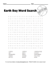 Earth Day Wordsearch Puzzle