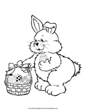Bunny and Easter Basket