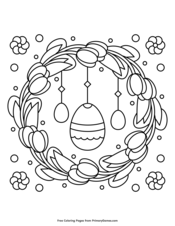 Tulip Wreath and Easter Eggs