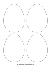 Simple Egg Outline 4