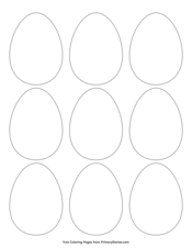 Simple Egg Outline 9