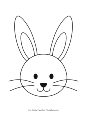 Simple Bunny Head Outline