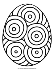 Easter Egg with Circle Design
