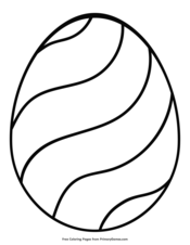 Easter Egg with Wavy Design