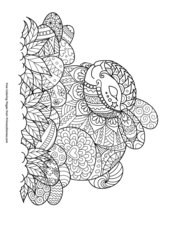 Zentangle Easter Bunny and Eggs