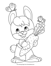 Easter Bunny Holding a Carrot