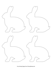 Simple Rabbit Outline 4