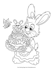 Bunny Carrying an Easter Cake