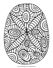 Easter Egg with Abtract Pattern