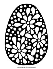 Easter Egg with Floral Design