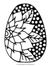Easter Egg with Large Flower Design