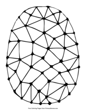 Easter Egg Abtract Design