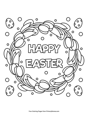 Happy Easter Coloring Page • Free Online Coloring Books