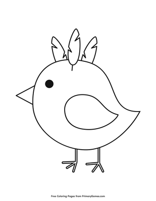 Baby Chick Coloring Page Printable Easter Coloring Ebook