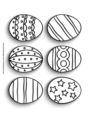 photo relating to Printable Easter Eggs called 6 Easter Eggs Coloring Web site Printable Easter Coloring