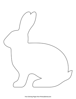 graphic relating to Bunny Outline Printable identified as Easy Rabbit Define Coloring Site Printable Easter