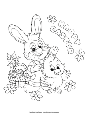 Happy Easter Coloring Page Printable Easter Coloring Ebook