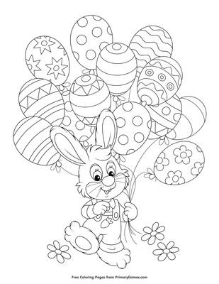 Balloons coloring pages - AnimationsA2Z | 400x309