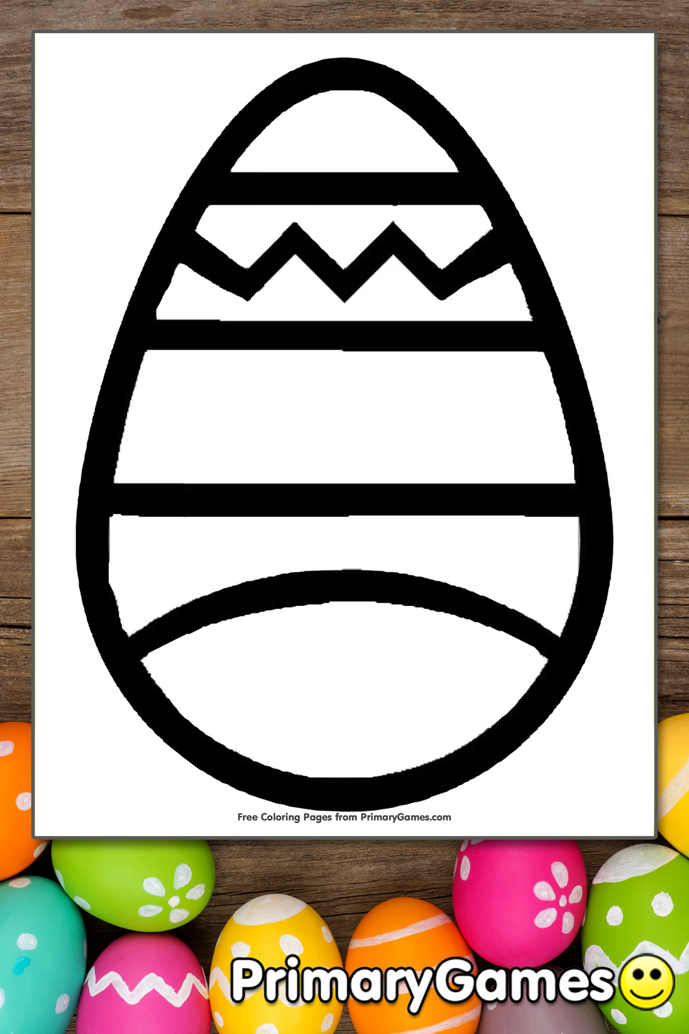 Easter Egg Coloring Page Printable Easter Coloring eBook