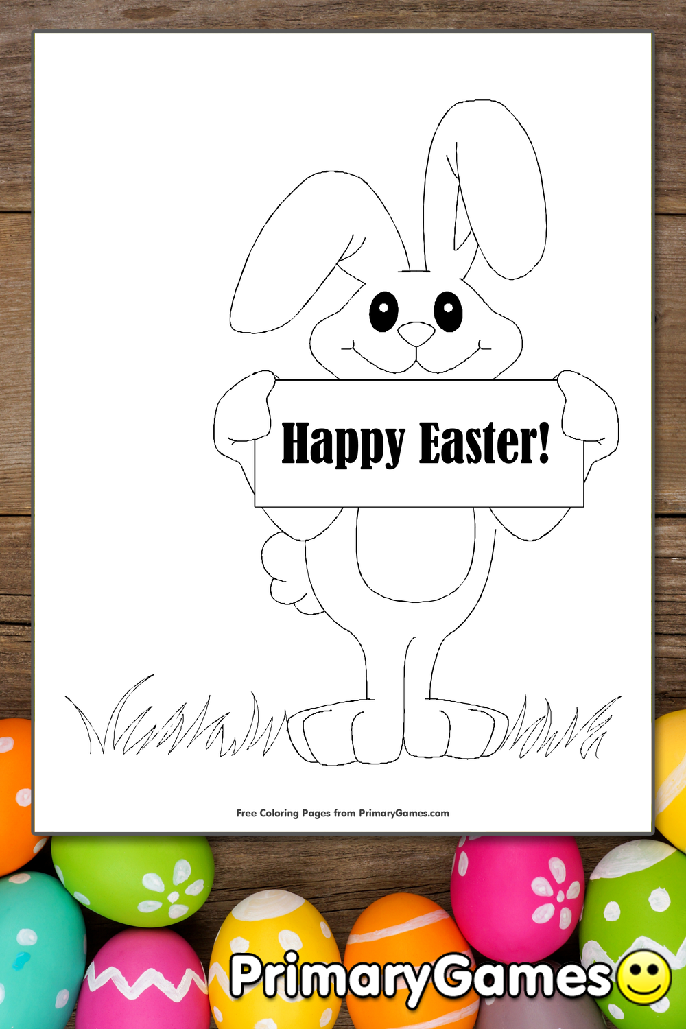 primary easter coloring pages - photo#27