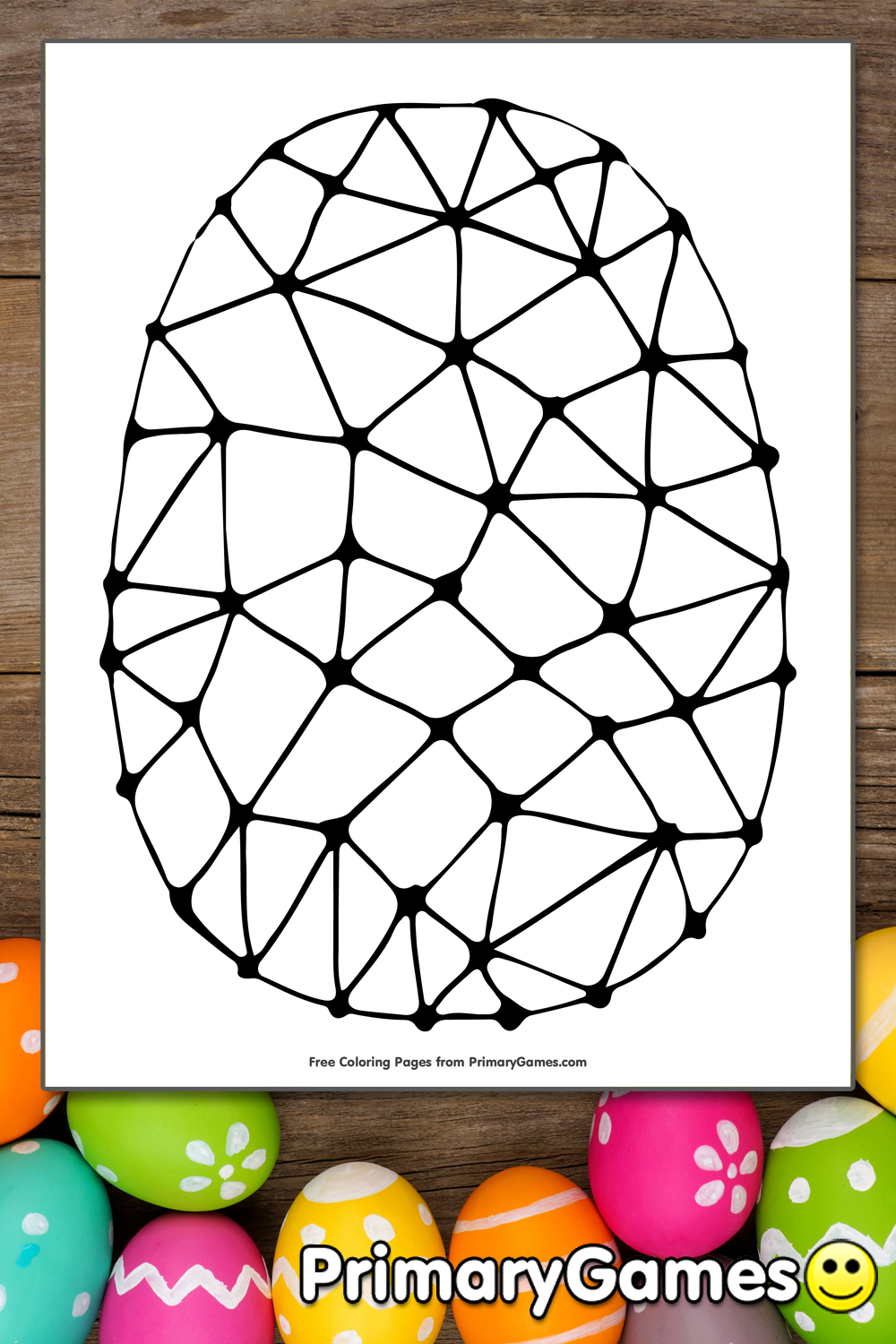 Abstract Easter Coloring Pages : Easter egg abtract design coloring page printable