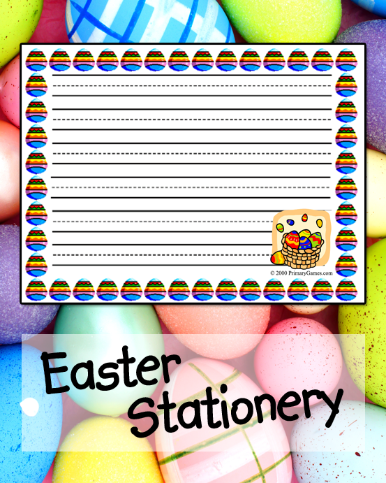 easter stationery primarygames play free online games