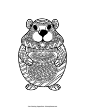 Cute Zentangle Groundhog