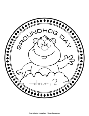 20 Free Printable February Coloring Pages | 400x309