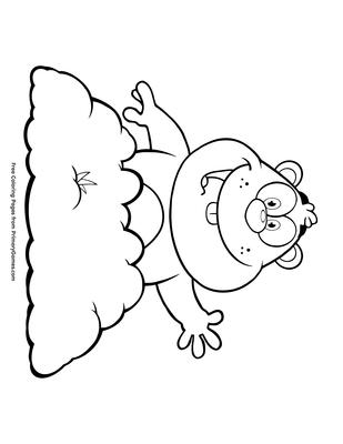 Smiling Groundhog Coloring Page   Printable Groundhog Day Coloring ...