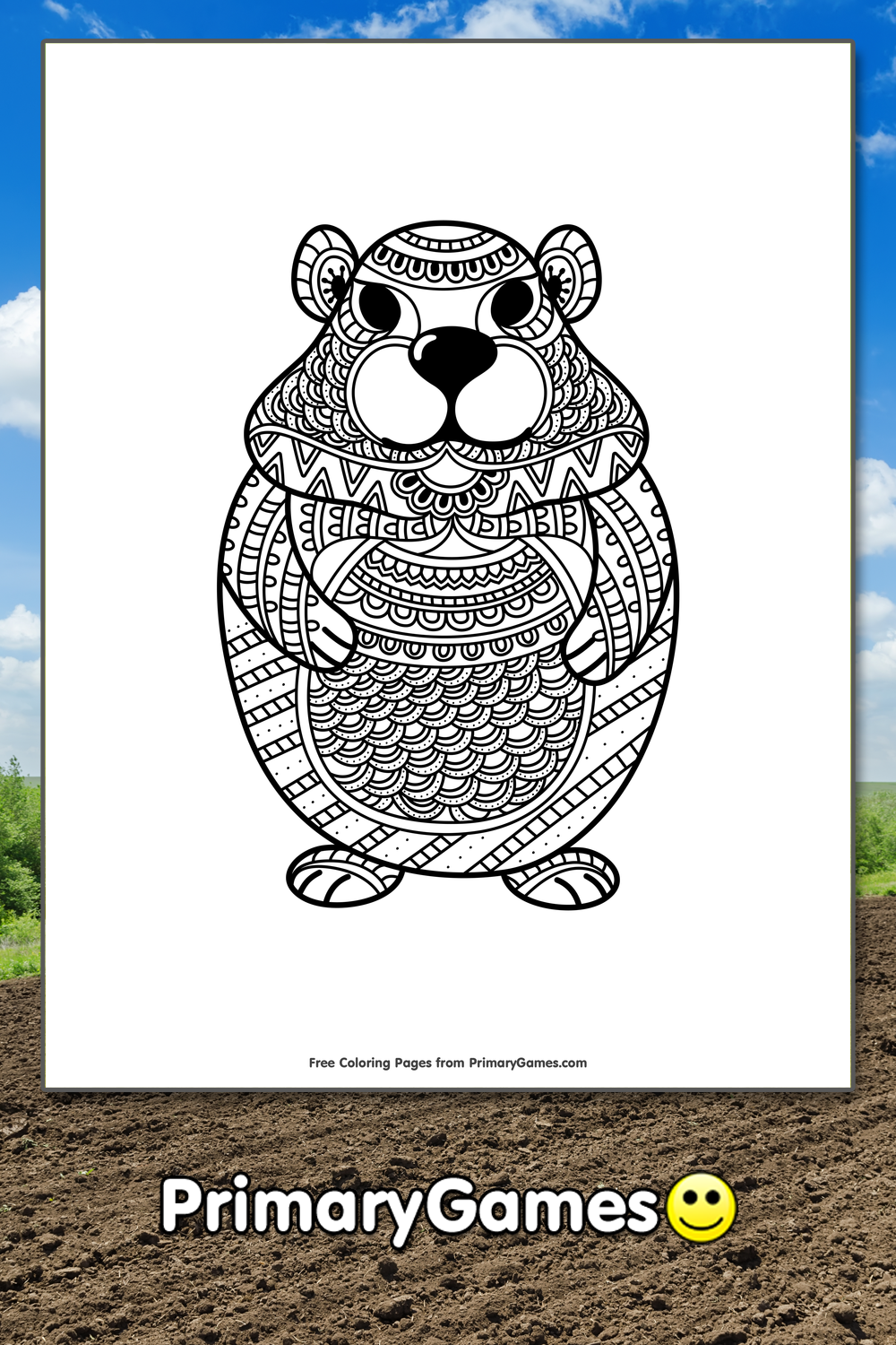 Groundhog Day Coloring Pages | Printable Coloring eBook - PrimaryGames