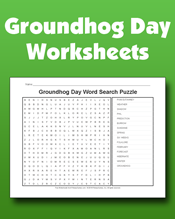 Groundhog Day Worksheets Pages