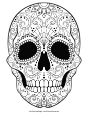 coloring page skeleton - Halloween Skeleton Coloring Pages