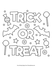 Halloween Coloring Pages Free Printable Pdf From