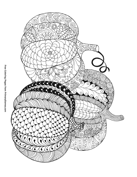 Three Pumpkins Coloring Page Printable Halloween Coloring Ebook