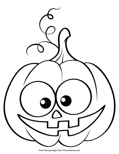 - Cute Jack-O-Lantern Coloring Page • FREE Printable PDF From PrimaryGames