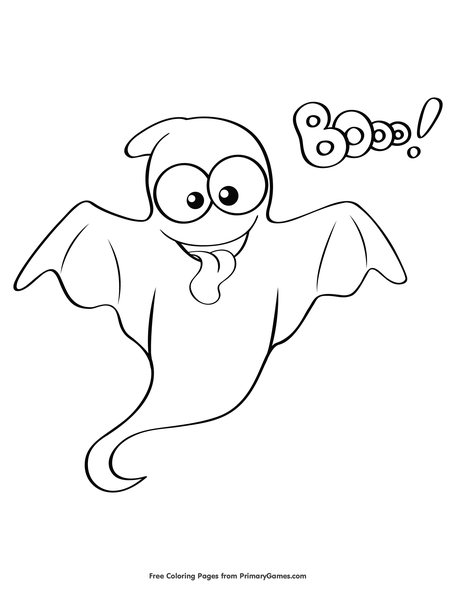 Ghost Coloring Page Free Printable Pdf From Primarygames