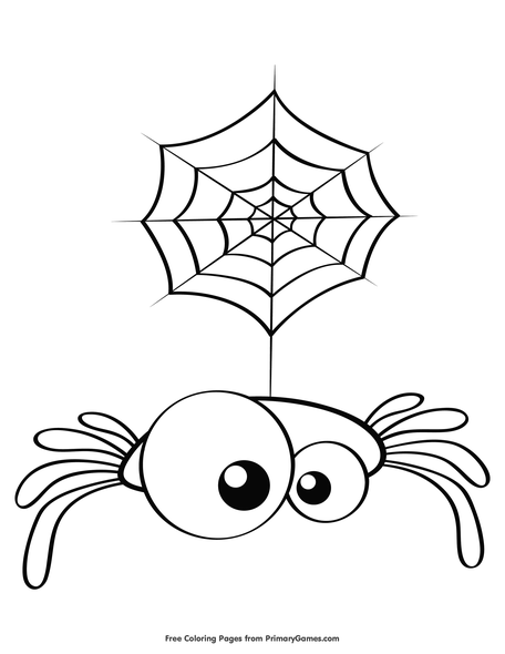 Cute Spider Coloring Page Free Printable Pdf From Primarygames