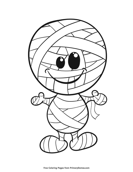 graphic relating to Mummy Printable named Mummy Coloring Web site Printable Halloween Coloring e book