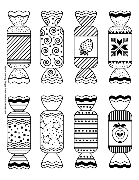 Candy Coloring Page Free Printable Pdf From Primarygames
