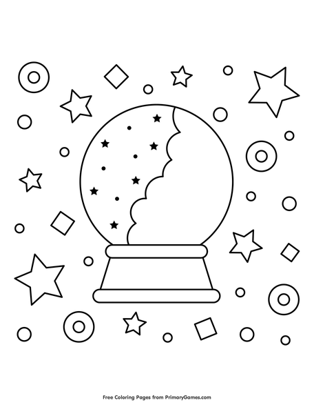 crystal ball coloring pages | Crystal Ball Coloring Pages