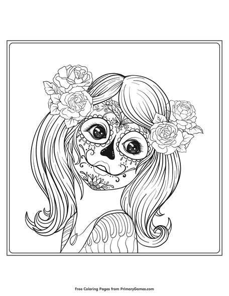 Skull - Coloring Pages for Adults | 590x456