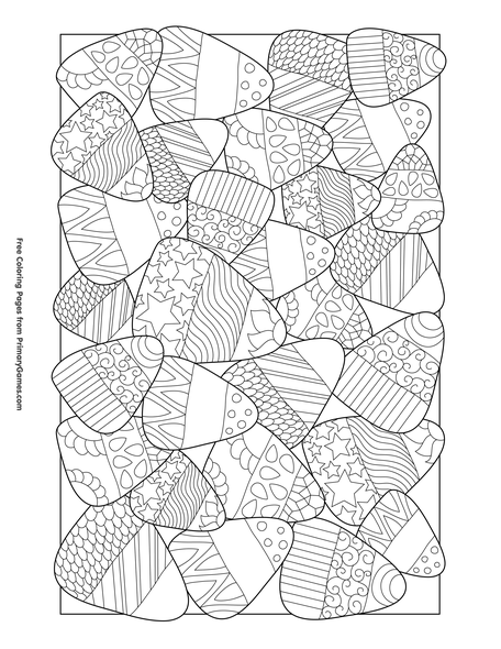 Candy Corn Coloring Page Free Printable Pdf From Primary