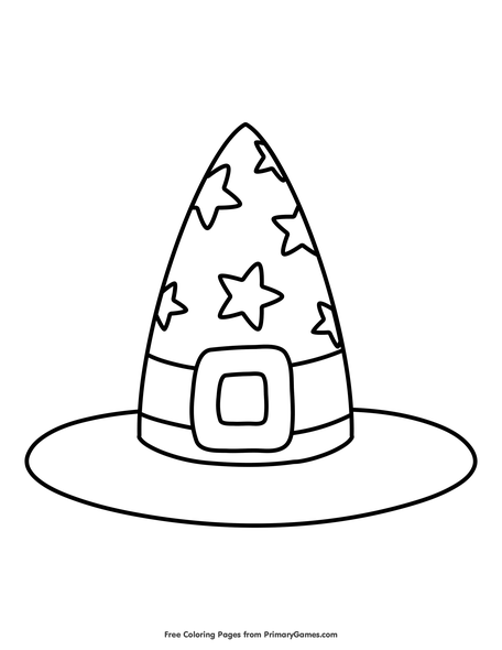 Witch S Hat Coloring Page Free Printable Coloring Books