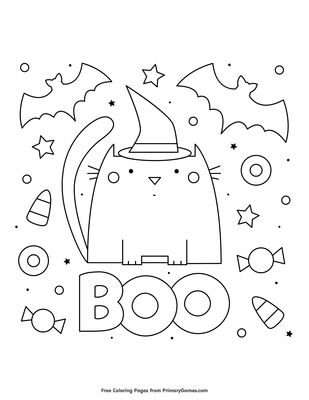 Boo Coloring Page Free Printable Pdf From Primarygames