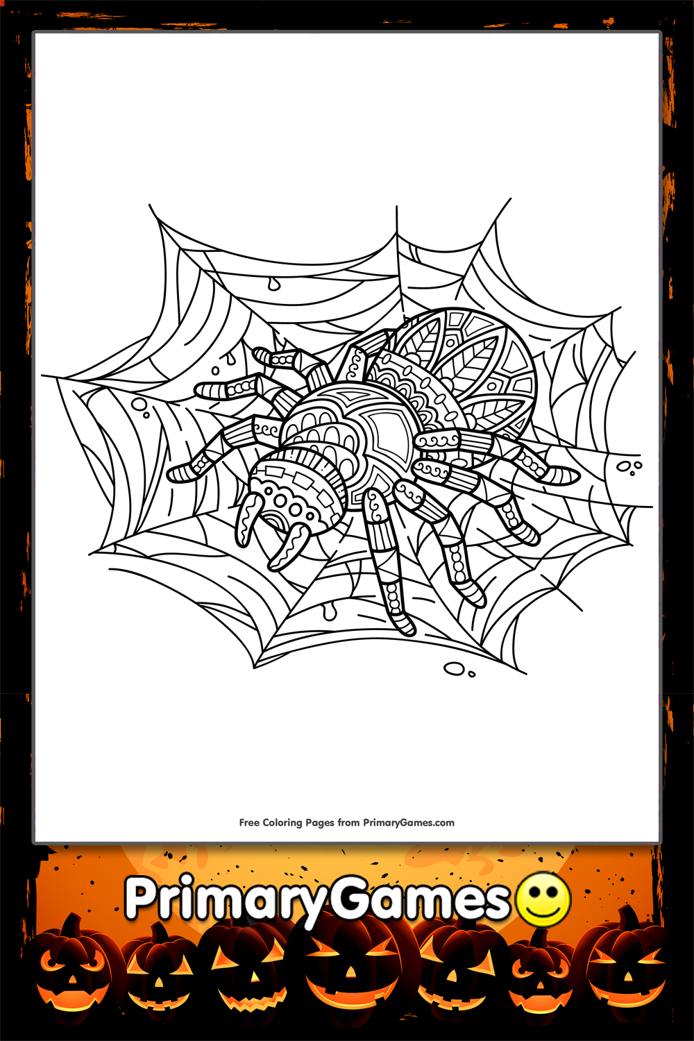 halloween spider web coloring pages - photo#17