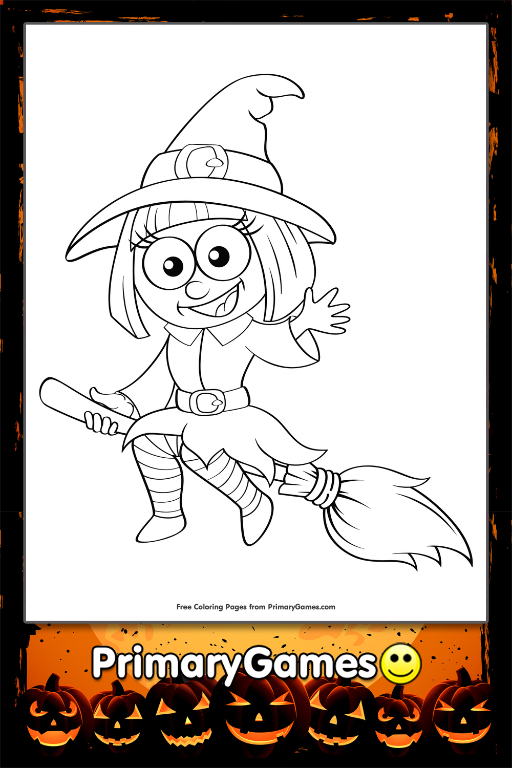cute witch halloween coloring pages - photo#2