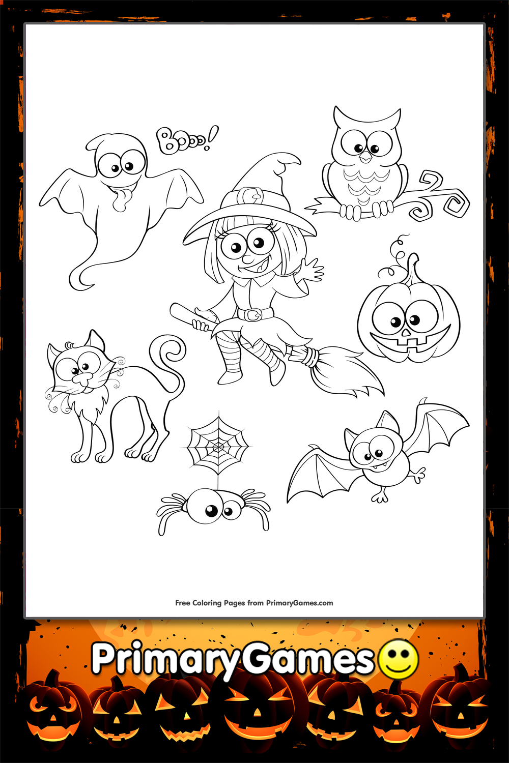 halloween characters coloring pages - halloween characters coloring page printable halloween