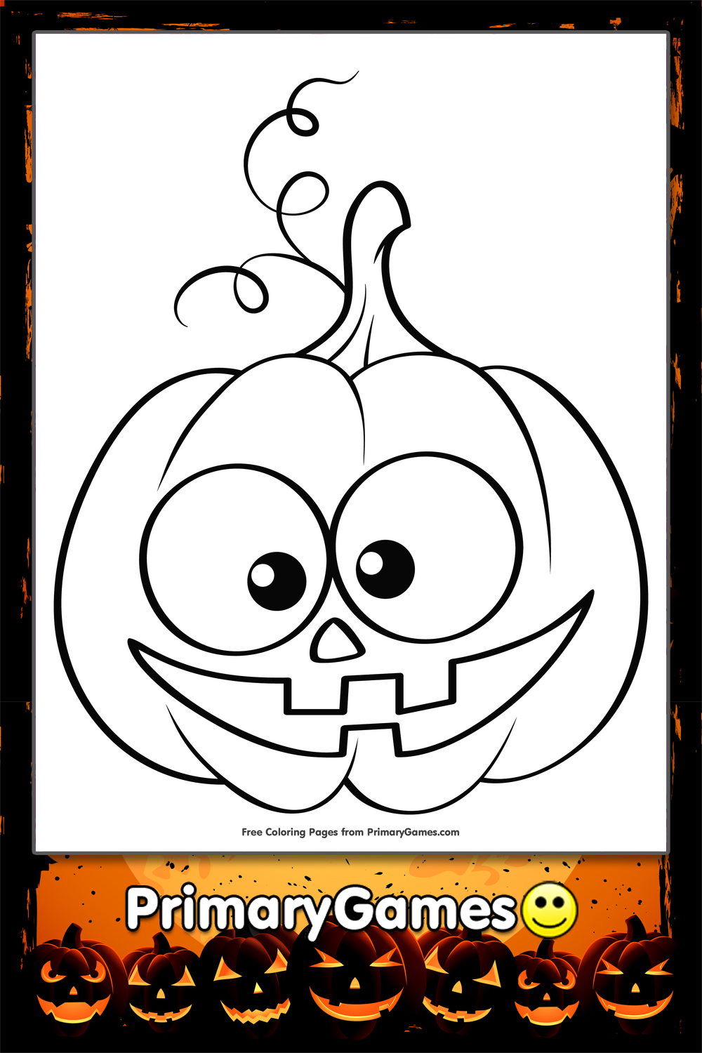 Cute Jack-O-Lantern Coloring Page | Printable Halloween ...