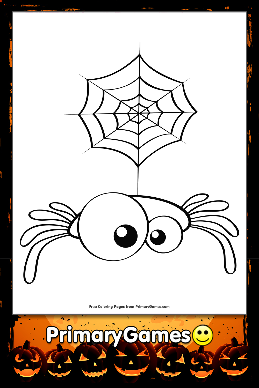 Cute Spider Coloring Page | Printable Halloween Coloring ...