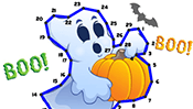 Halloween Dot to Dot Puzzle